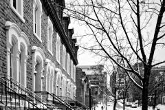 Maisons de style anglo-saxon au pied du Mont Royal, Montréal, Québec